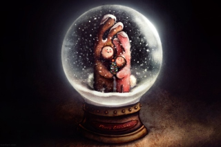 Christmas Bunnies In Snow Ball - Fondos de pantalla gratis