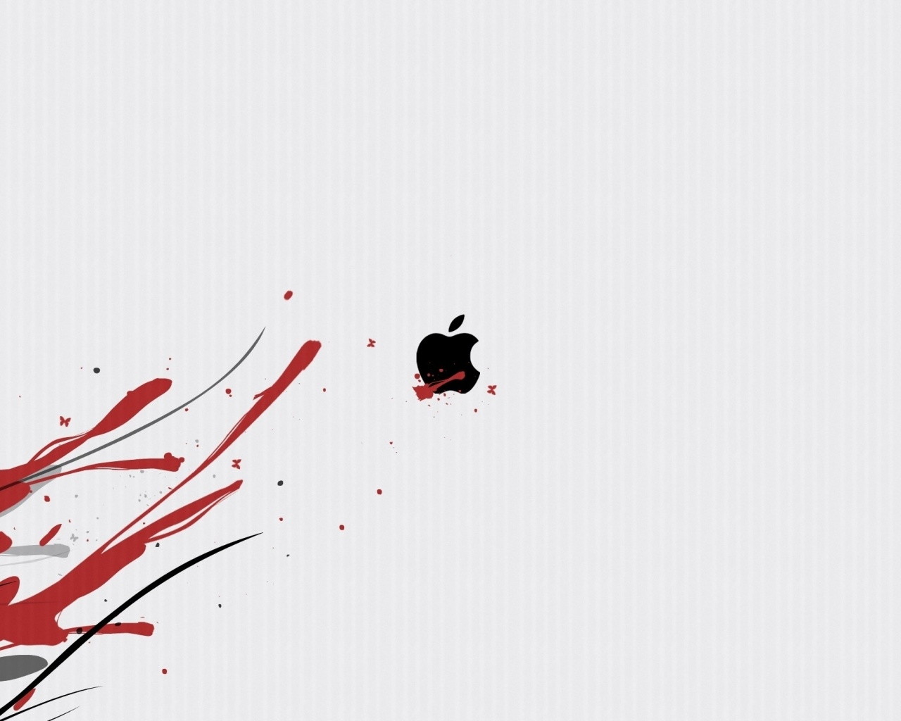 Screenshot №1 pro téma Black Apple Logo 1280x1024