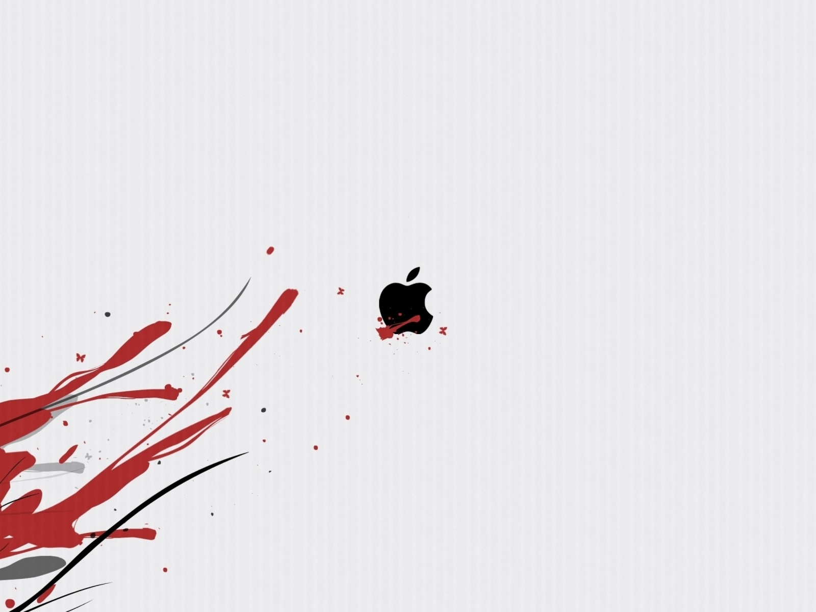 Screenshot №1 pro téma Black Apple Logo 1600x1200