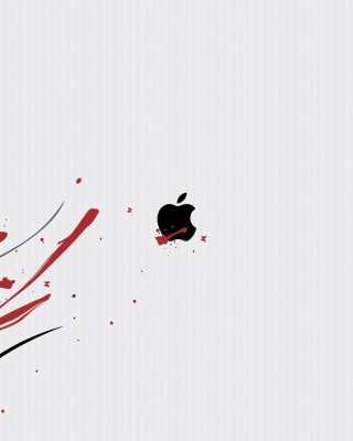 Black Apple Logo sfondi gratuiti per 640x960