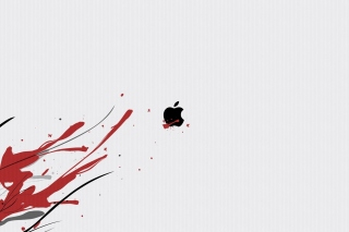 Black Apple Logo Background for 2880x1920