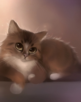 Good Kitty Painting Background for 480x640