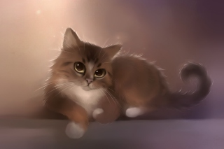 Good Kitty Painting Background for Widescreen Desktop PC 1680x1050