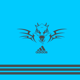 Adidas Blue Background - Obrázkek zdarma pro iPad Air