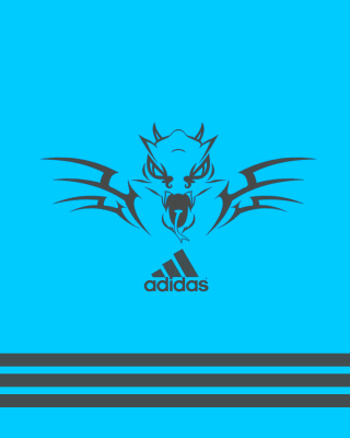 Adidas Blue Background papel de parede para celular para iPhone 6