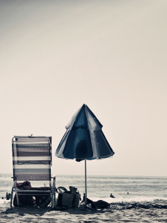Beach Chair And Umbrella screenshot #1 240x320