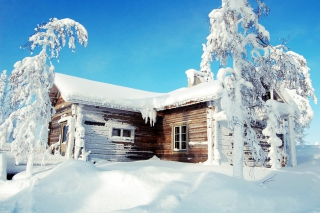 Winter House Picture for Android, iPhone and iPad