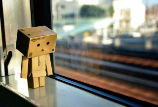 Danbo's Sadness Background for Android, iPhone and iPad
