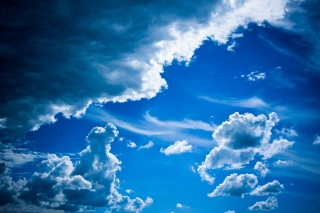 Free Blue Sky And Clouds Picture for Android, iPhone and iPad