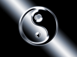 Yin Yang Symbol Background for Desktop 1280x720 HDTV