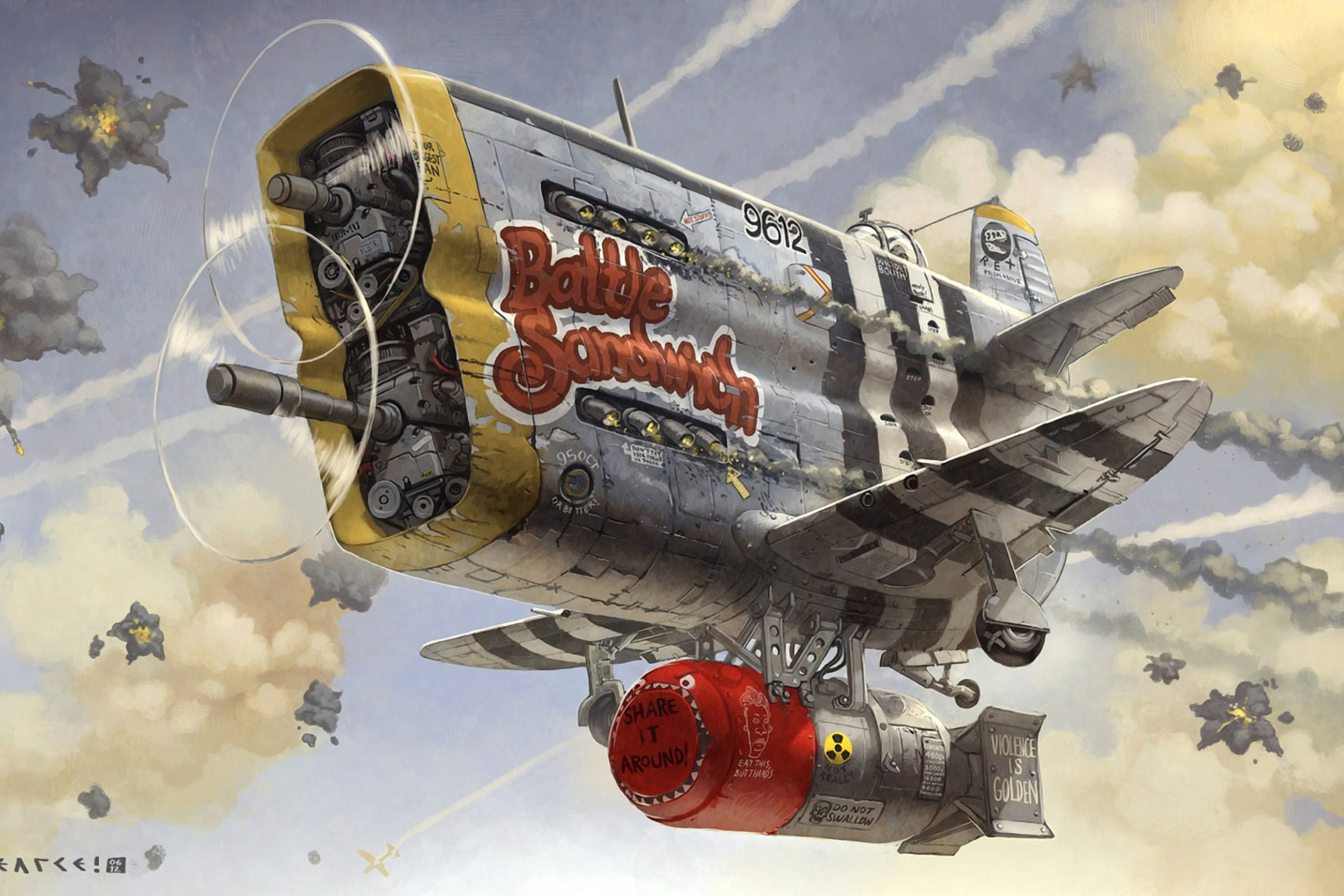 Das Battle Sandwich Airplane Wallpaper 2880x1920