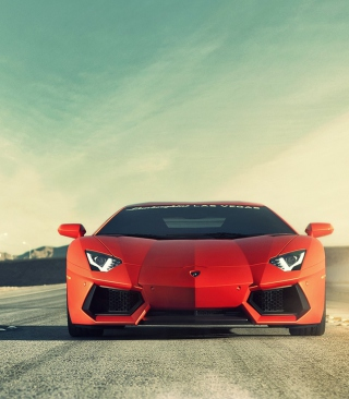 Red Lamborghini Aventador Picture for iPhone 6 Plus