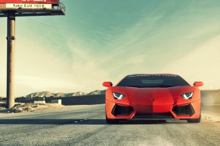Free Red Lamborghini Aventador Picture for 1920x1408