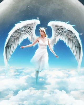Beautiful Blonde Angel sfondi gratuiti per 320x480