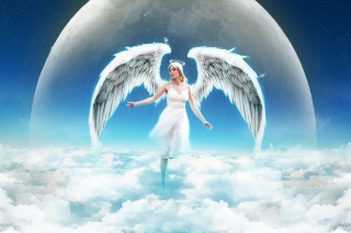 Kostenloses Beautiful Blonde Angel Wallpaper für Samsung I9080 Galaxy Grand
