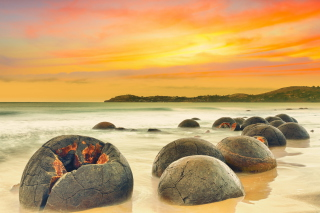 Big Stones Beach Background for Android, iPhone and iPad