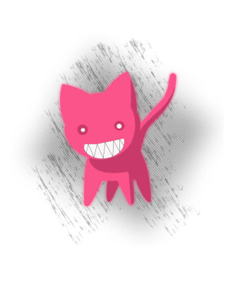 Free Pink Cat Sketch Picture for Nokia Asha 305
