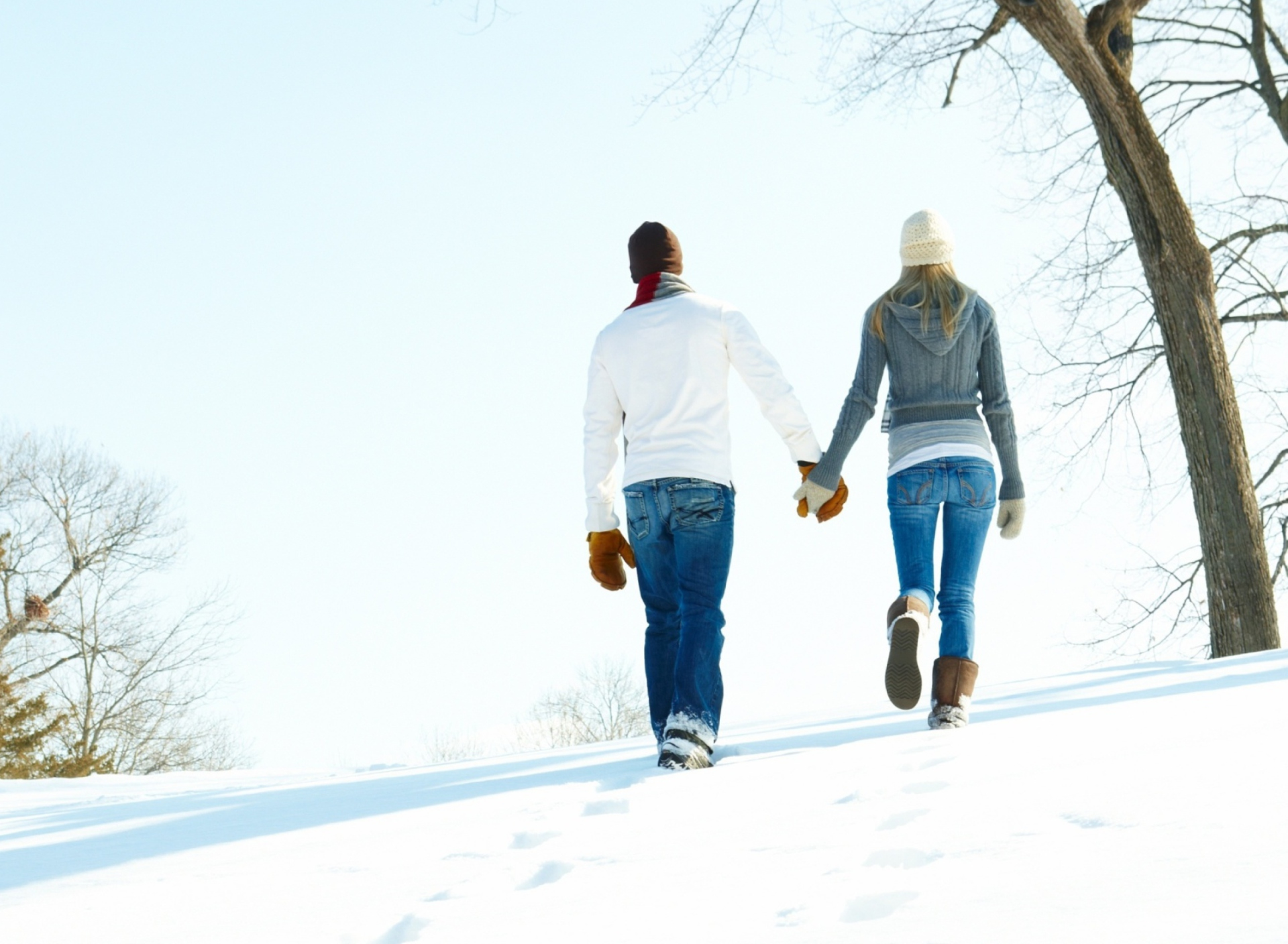 Screenshot №1 pro téma Romantic Walk Through The Snow 1920x1408