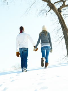 Romantic Walk Through The Snow screenshot #1 240x320