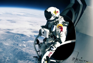 Felix Baumgartner Cosmic Jump Wallpaper for Android, iPhone and iPad