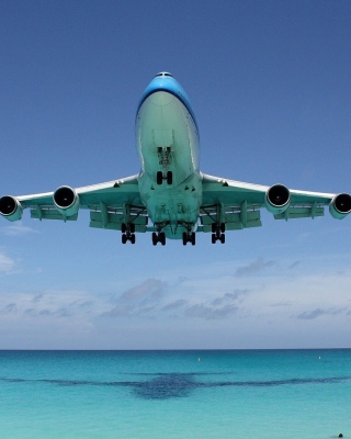 Kostenloses Boeing 747 Maho Beach Saint Martin Wallpaper für iPhone 5C