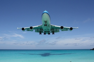 Boeing 747 Maho Beach Saint Martin Background for Android, iPhone and iPad