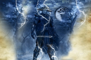 Raiden Mortal Kombat Background for 1400x1050