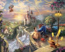 Thomas Kinkade, Beauty And The Beast para 220x176