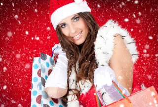 Santa Claus Girl Picture for Android, iPhone and iPad