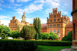 Chernivtsi University Castle Background for Android, iPhone and iPad