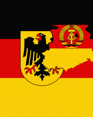 German Flag With Eagle Emblem - Obrázkek zdarma pro iPhone 6 Plus