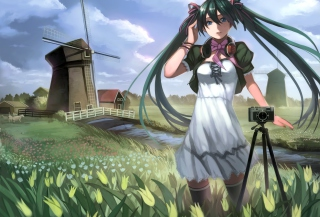 Vocaloid - Girl Photographer Anime sfondi gratuiti per cellulari Android, iPhone, iPad e desktop