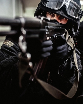 Police special forces Wallpaper for Nokia Asha 311