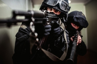 Police special forces Background for Android, iPhone and iPad