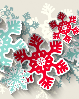 Snowflakes Decoration Background for Nokia C2-05