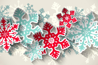 Snowflakes Decoration Background for Android, iPhone and iPad