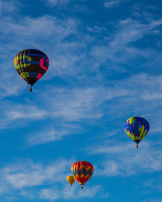 Climb In Balloon Wallpaper for Nokia C2-03