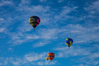 Climb In Balloon Wallpaper for Android, iPhone and iPad
