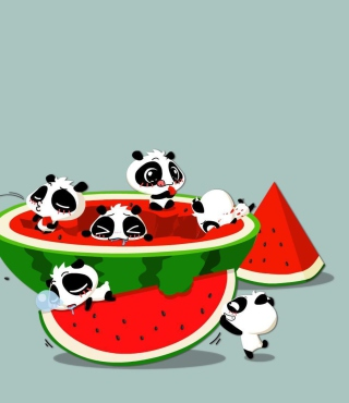 Panda And Watermelon Picture for HTC Titan