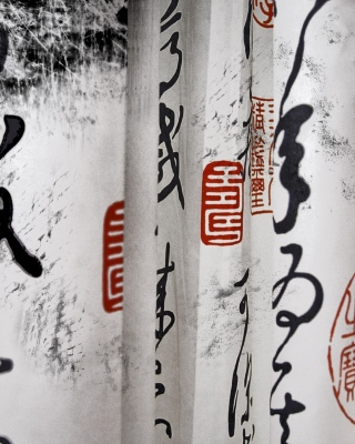 Calligraphy Chinese Wallpaper for Nokia C1-01