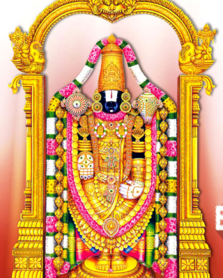 Balaji or Venkateswara God Vishnu Background for iPhone 6 Plus