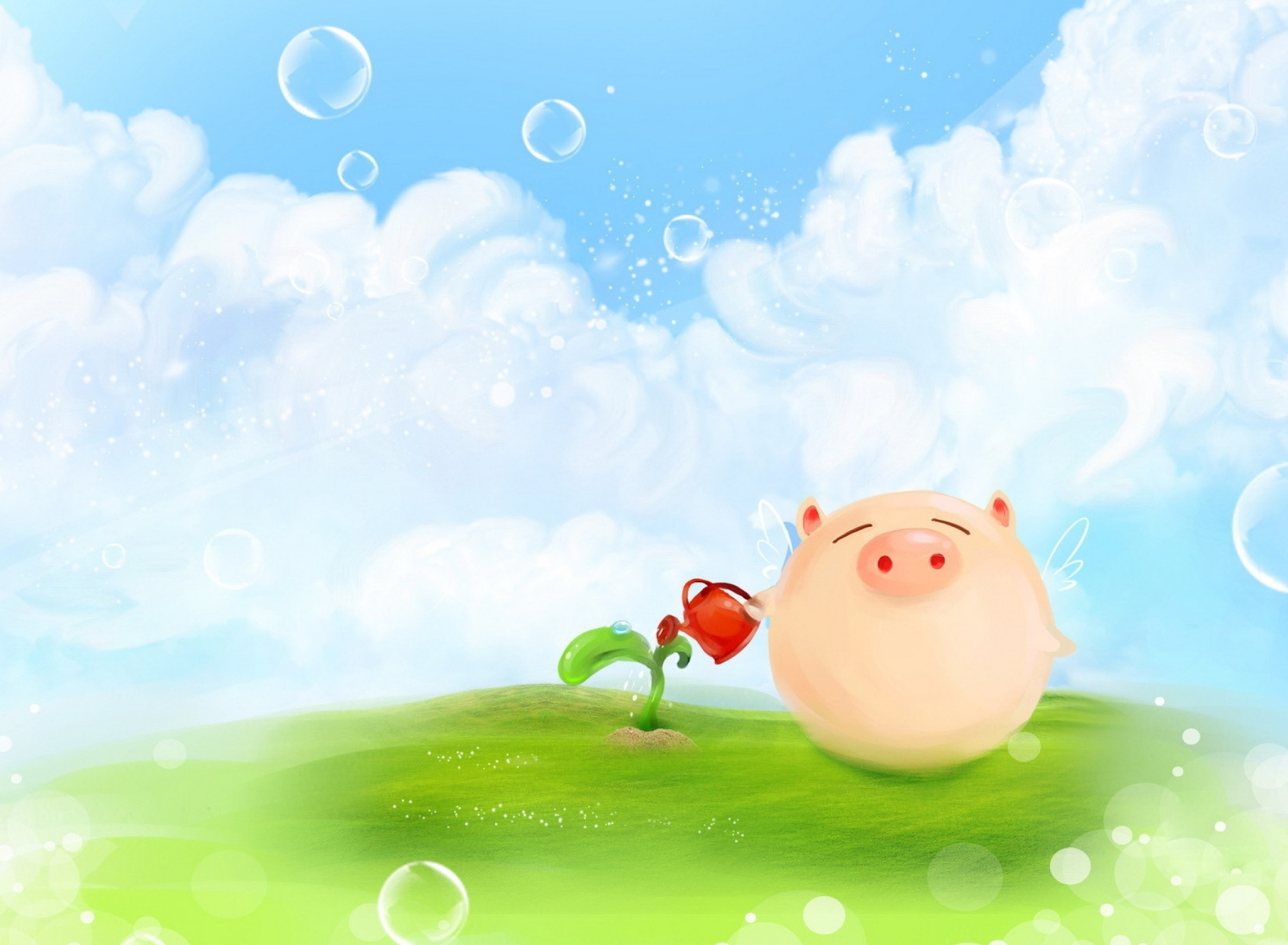 Pig Artwork wallpaper 1920x1408