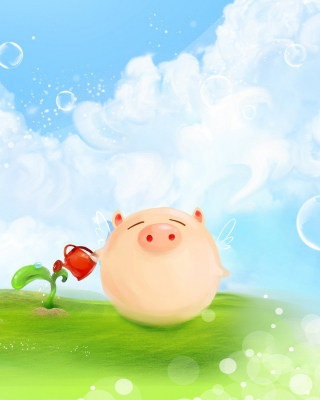 Free Pig Artwork Picture for Nokia Asha 310