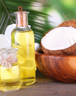 Coconut oil Wallpaper for Nokia Asha 306