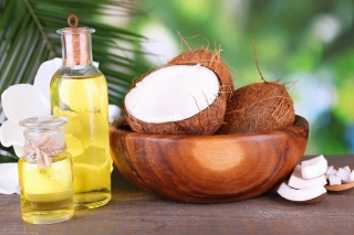Coconut oil Wallpaper for Android, iPhone and iPad