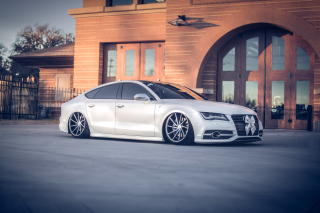 Audi A7 Vossen Tuning Background for Android, iPhone and iPad
