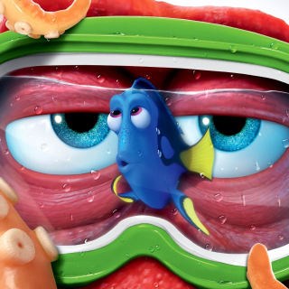 Finding Dory 3D Film and Nemo Fish sfondi gratuiti per iPad