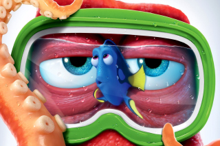 Kostenloses Finding Dory 3D Film and Nemo Fish Wallpaper für Samsung Galaxy Tab 3