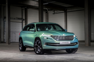 Skoda Vision S Background for Android, iPhone and iPad