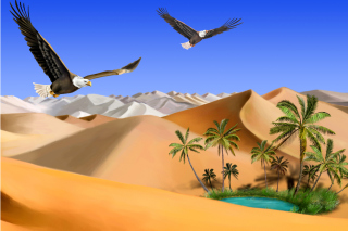 Desert Landscape Background for Android, iPhone and iPad